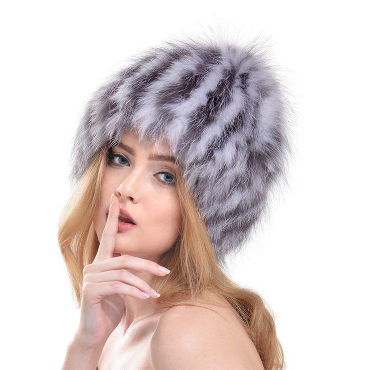 2016 New Women Fox Fur Hat Ladies Fur Hats Autumn and Winter Headwear Ear Cap Russian Style Caps Moshino LH307