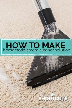 If you have a carpet steam cleaner you know just how pricey the solution is and full of chemicals too! Learn how to Make Homemade Steam Cleaner Solution.