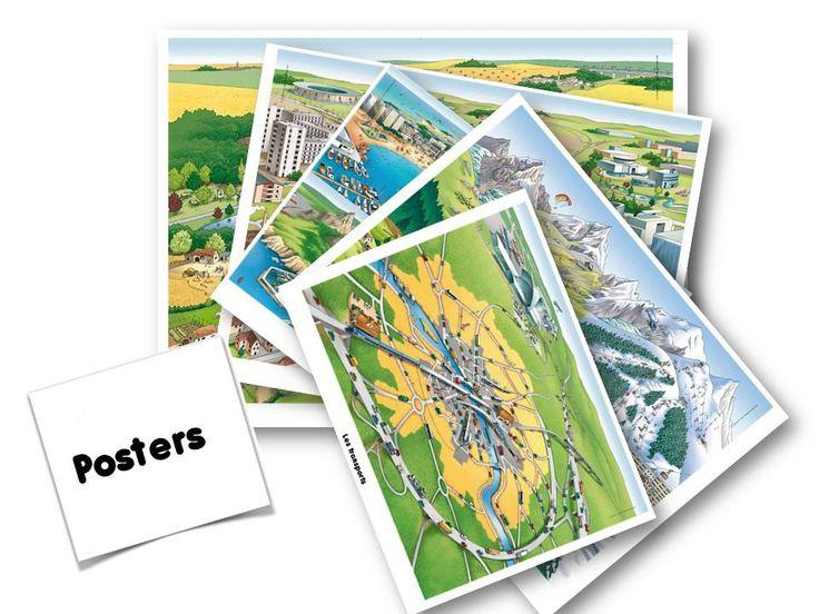Posters des types de paysages