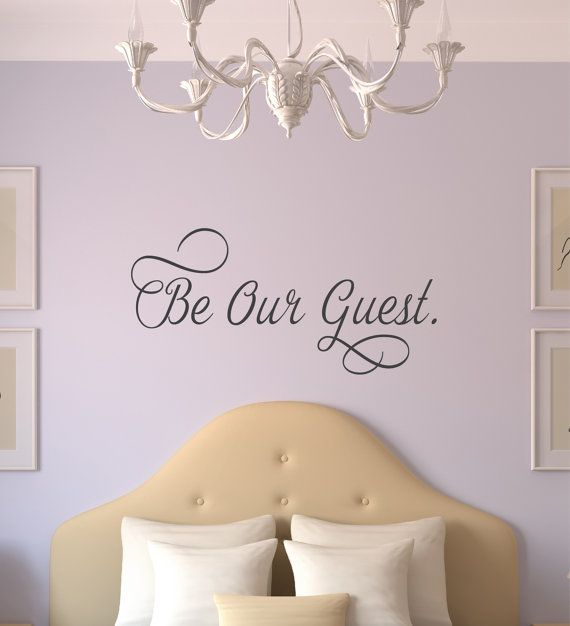 Be Our Guest Wall Decal  Vinyl Wall Decals  by DavisVinylDesigns