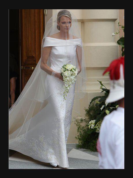 2. Juli 2011: Fürstin Charlene trägt ein Kleid von...