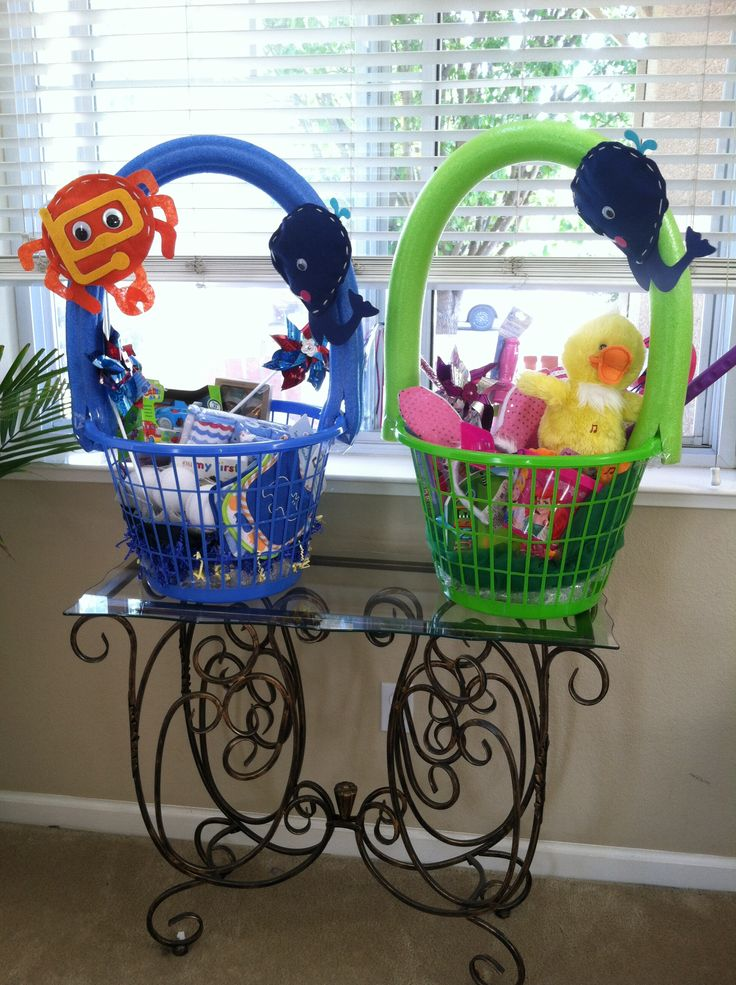 Laundry basket Easter Baskets for our grand children ...