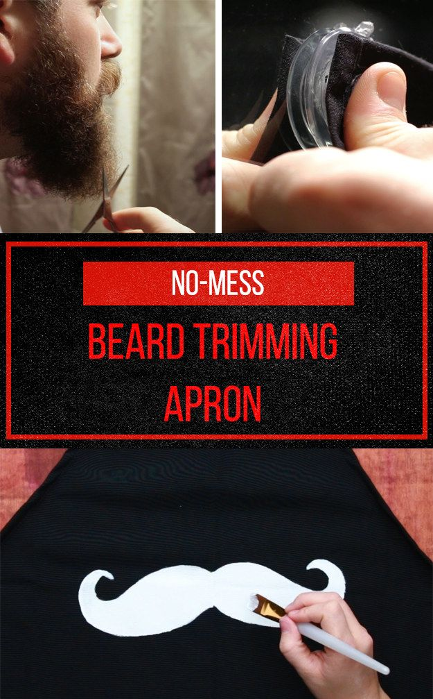 This DIY Suction-Cup Apron Is The Solution To Your Beard-Grooming Woes. would never use this but cool