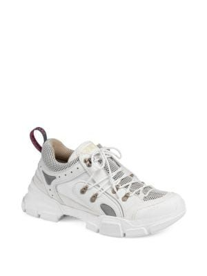 a2e53b45633 GUCCI Journey Leather   Canvas Chunky Sneaker.  gucci  shoes ...