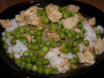 Vegyes saláta: Pulykamell zöldborsóval
