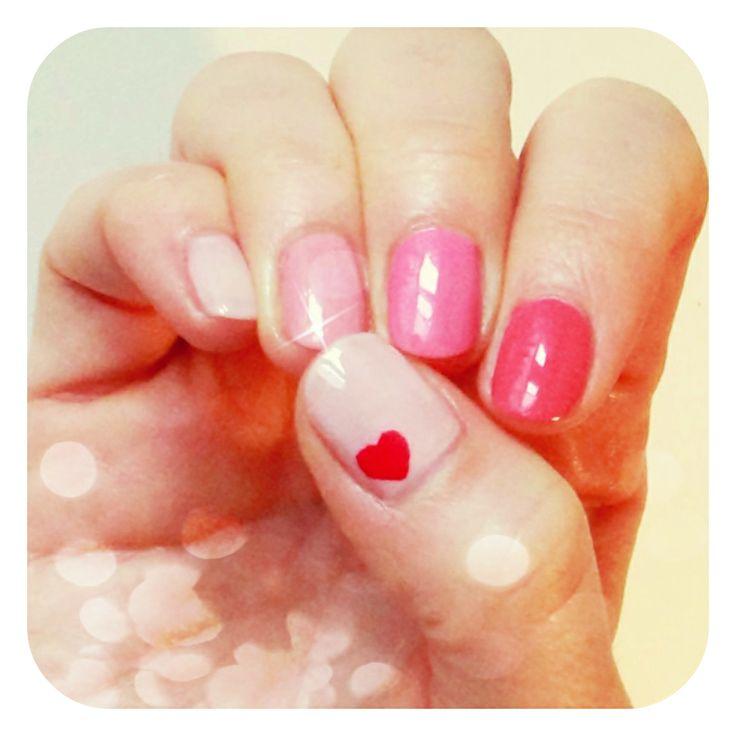 rózsaszín körmök, pink nails #nails #nailart #2014 #tavasz #spring #love #pink