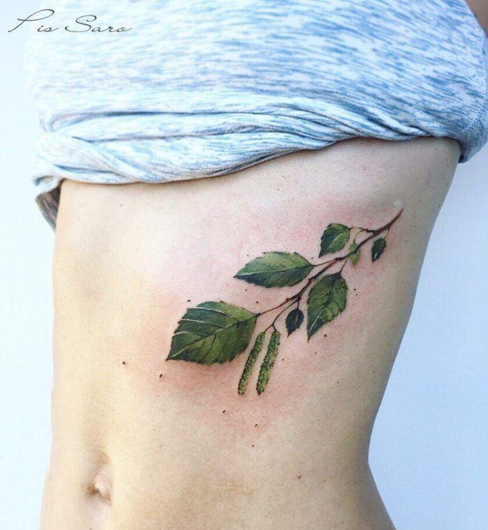 The branch of birch tree