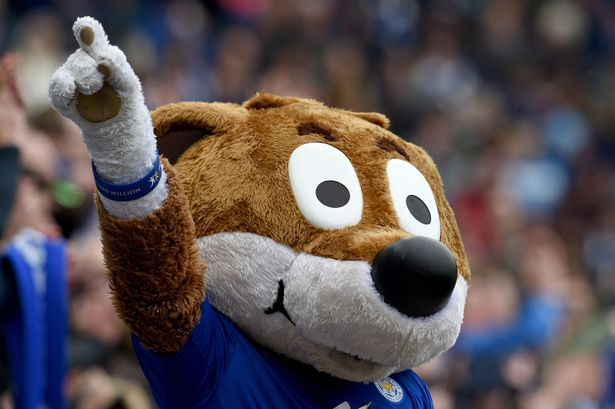 Filbert Fox the Leicester City mascot during the Premier League match between Leicester City and Newcastle United at The King Power Stadium on May 2, 2015