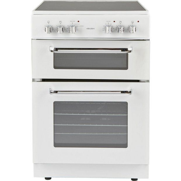 Buy Bush BFEDC60W Double Electric Cooker - White at Argos.co.uk - Your Online Shop for Freestanding cookers, Cooking, Large kitchen appliances, Home and garden.