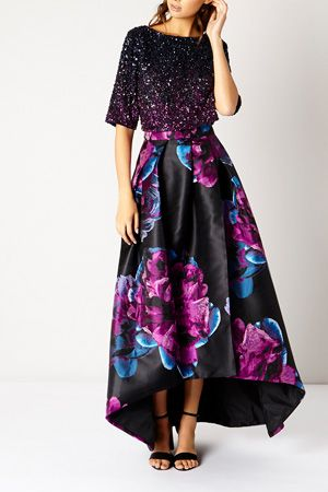 Stand-out in the stunning eye catching Exeter Embellished Top. The all over ombre sequins and on trend cropped style makes this a true eye-catcher, perfect for this seasons special events. Team with the statement Exeter Skirt for a truly gorgeous look this season.