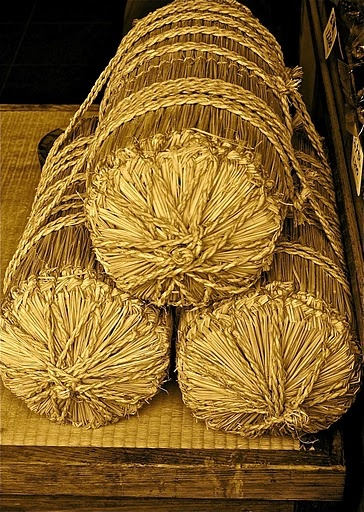 Straw bundles (of what, I'm not so sure).