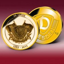 """Goldprägung """"60 Jahre Dynamo Dresden"""""""