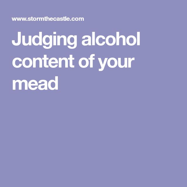 Judging alcohol content of your mead