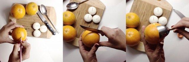 iyi fikirler – Portakal kabuğundan mumluk yapımı