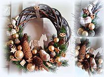 Stroik Świąteczny ze świecznikami