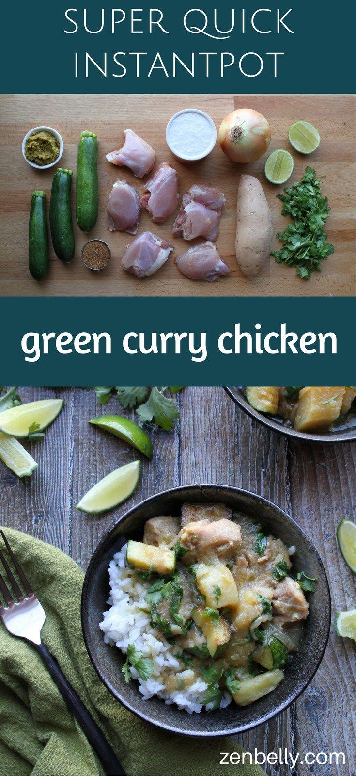 Instantpot Green Curry Chicken | Zenbelly