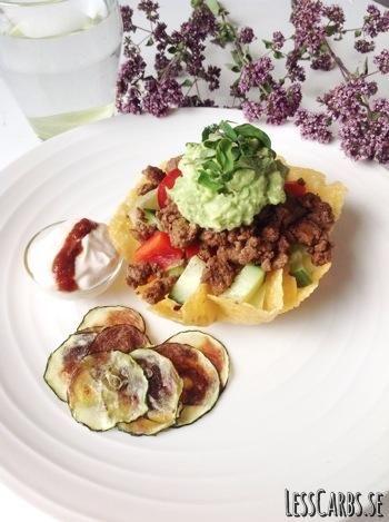 Tacos är inte alls svårt att äta som LCHF-are! Här kommer en samlad lista med recept och tillbehör som gör tacokvällen komplett. Tryck nedan för att läsa mer. Så här smaksätter du köttet: Klassiskt recept som köttfärsen brukar smaka, hittar du här. Ett annorlunda alternativ gjort på kycklingfärs med smak av ingefära, chili och spiskummin…