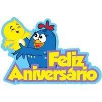 Painel Feliz Aniversário em E.V.A - Galinha Pintadinha
