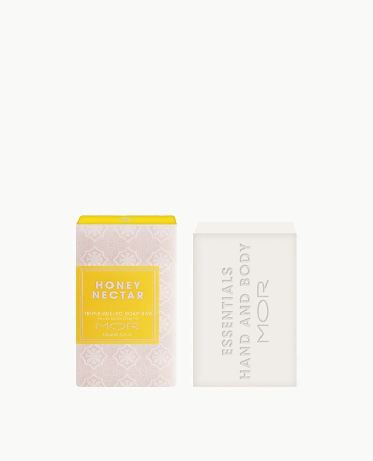HONEY NECTAR TRIPLE-MILLED SOAP A fragrant Triple-Milled Soap Bar containing Shea Butter & Vitamin E to nourish the skin. The Fragrance: Sweet Brown Sugar melts into golden Honey Nectar on a base of candied Almonds and Vanilla Milk.