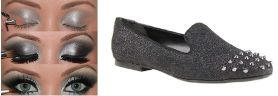 We're in love with these spiked shoes from @Schutz Oficial, paired with the perfect smokey eye makeup!