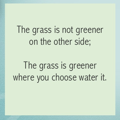 And don't water the weeds,  water the flowers & the grass