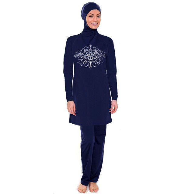 Modest Hijab Swimsuit Maillot De Bain Femme Musulmane Women Abaya Robe Pakistane Swimwear Plus Size Islamic Swimwear M-1824