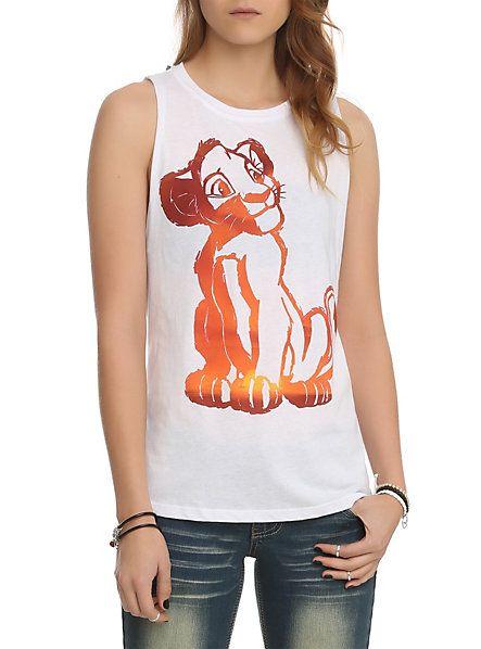 Disney Lion King Simba Muscle Girls Top   Hot Topic