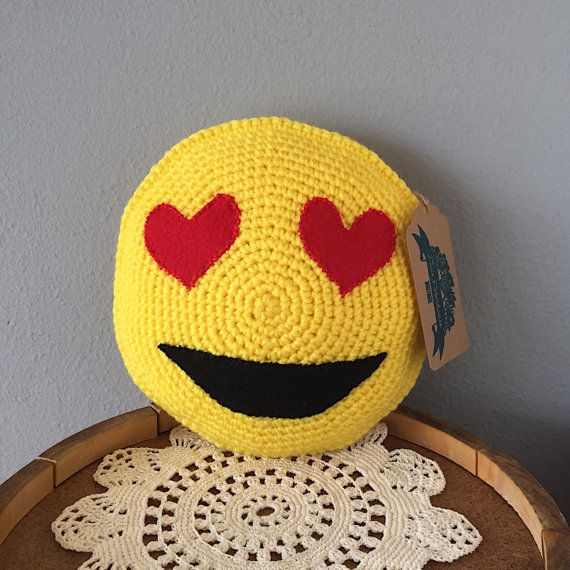 Emoji Pillow // Smiley Face Pillow // Happy Face by FauxFarmhouse