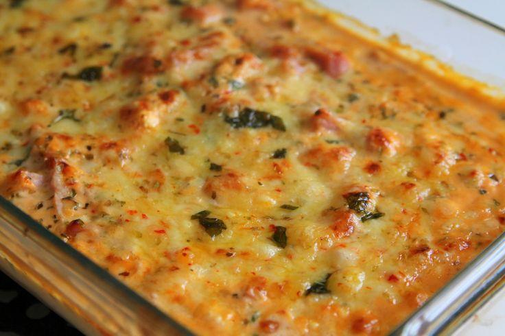 Kasslerpizza-gratäng