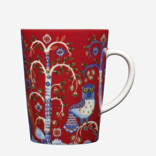Enjoy a warm drink from the Taika mug. Red is only available for limited period.