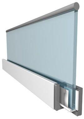 frameless glass panel balustrade