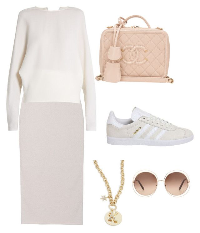 """""""Комфорт"""" by bayanchic on Polyvore featuring Yeezy by Kanye West, Carl Kapp, Chanel, adidas, R.J. Graziano and Chloé"""