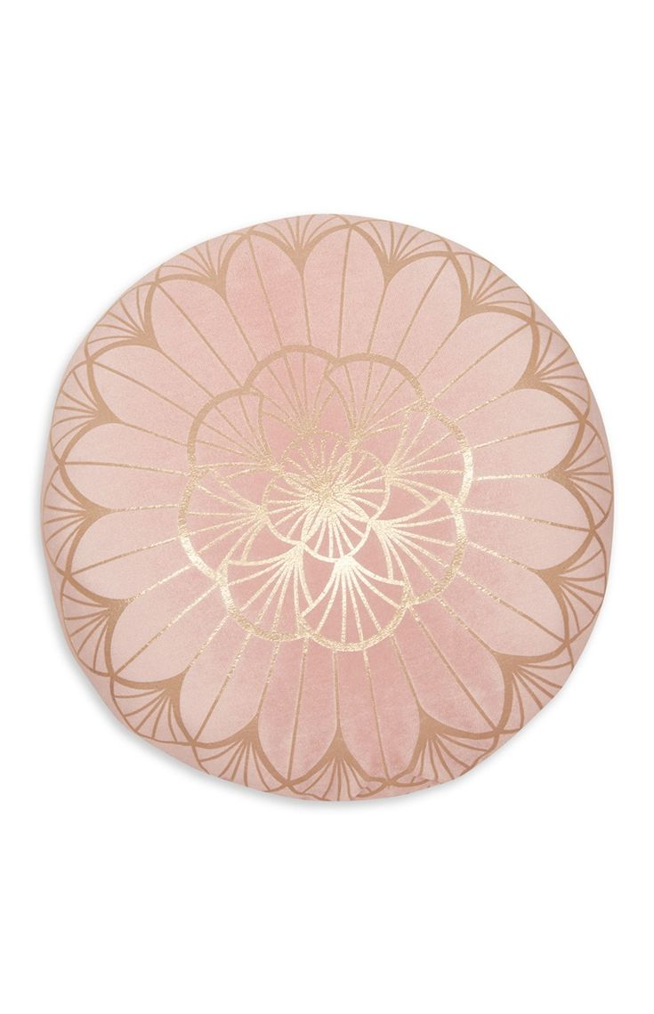 Primark - Pink Foil Print Round Cushion; for our bedroom