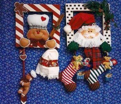 Marcos navideños con moldes