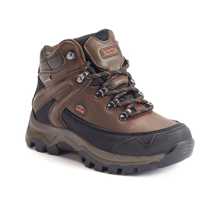 Pacific Trail Rainer Boys' Waterproof Hiking Boots, Size: 10 T, Brown