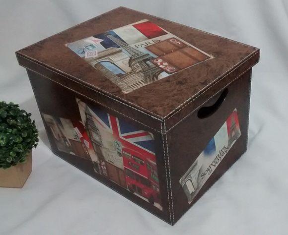 Caixa Organizadora Londres Paris F Couro