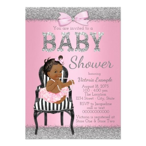421 Best Silver Black Baby Shower Invitations Images On
