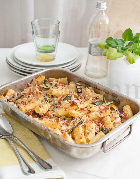 Pasta al forno con zucchine grigliate- Pasta with grilled zucchini