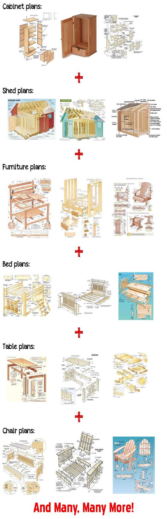 100 free woodworking plans