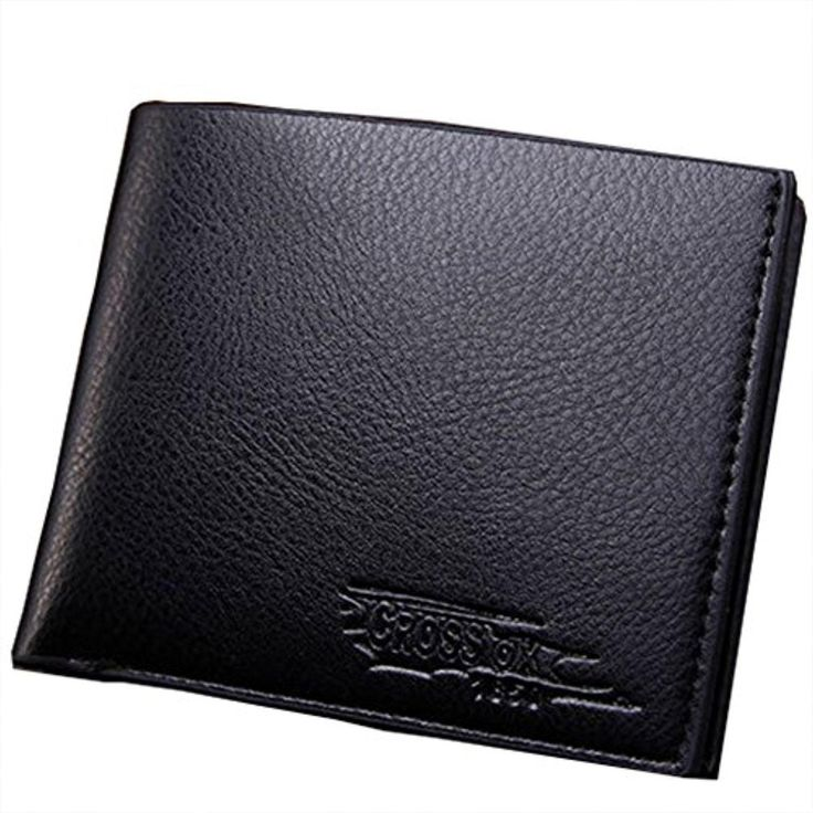 AYUBOOM Men's Leather Bifold Wallet Blocking Wallet Front Pocket Wallet Billfold Small Wallet Functional Wallets (Black) - Brought to you by Avarsha.com