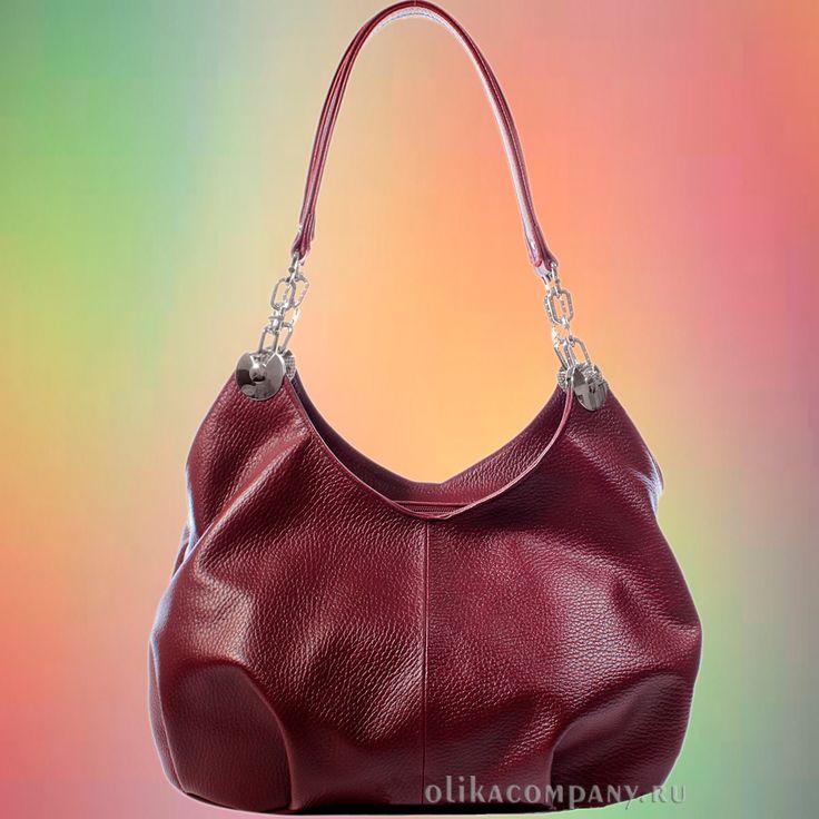 Женская сумка L50-1 натуральная кожа гладкая, размеры 32*16*28 см 6300 руб #сумки #сумка #мода #кожаная