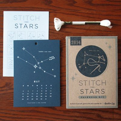 Stitch the Stars Calendar Kit | Make Your Own Calendar Kit | Kid's Calendar Kit