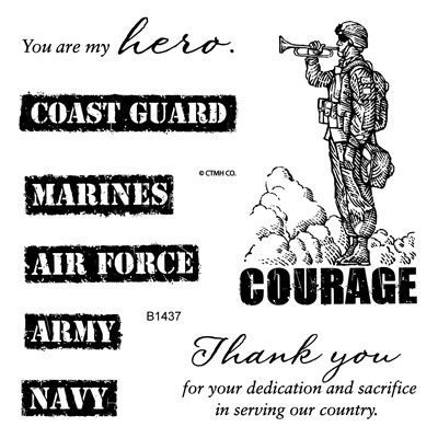My Acrylix® Courage stamp set only available until July 31, 2013 - 3 dollars from each sale goes to the USO  (if you live in Canada, purchase from a Canadian consultant and the Canadian Hero Fund benefits)