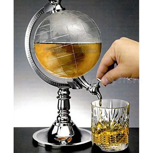 Globe Shaped Beverage Dispenser Drink Beer Machine Pump Single Canister HYSG