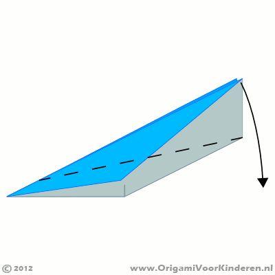 Vliegtuigje Origami instructies stap 12