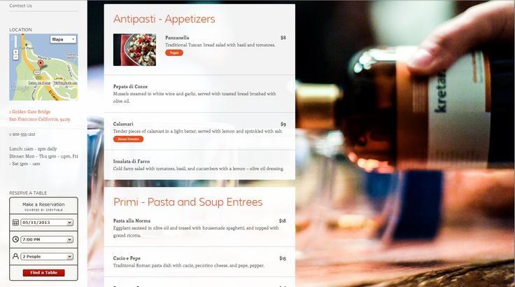 Plantilla WordPress.com Gratis para Restaurantes y Pubs