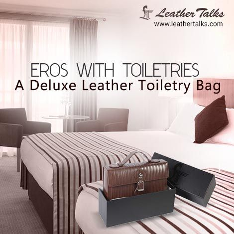 Carry all your toiletries in a luxury travel toiletry bag from Leather Talks. Choose this #smartandsturdy #leathertoiletrykit and get set to travel in style.   http://leathertalks.com/product/eros-with-toiletries/