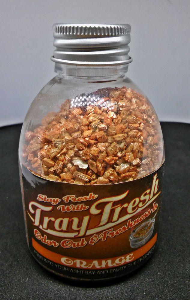Tray Fresh Orange Scent Ashtray Odor Smoke Out Absorbent 30gm Granule Bottle