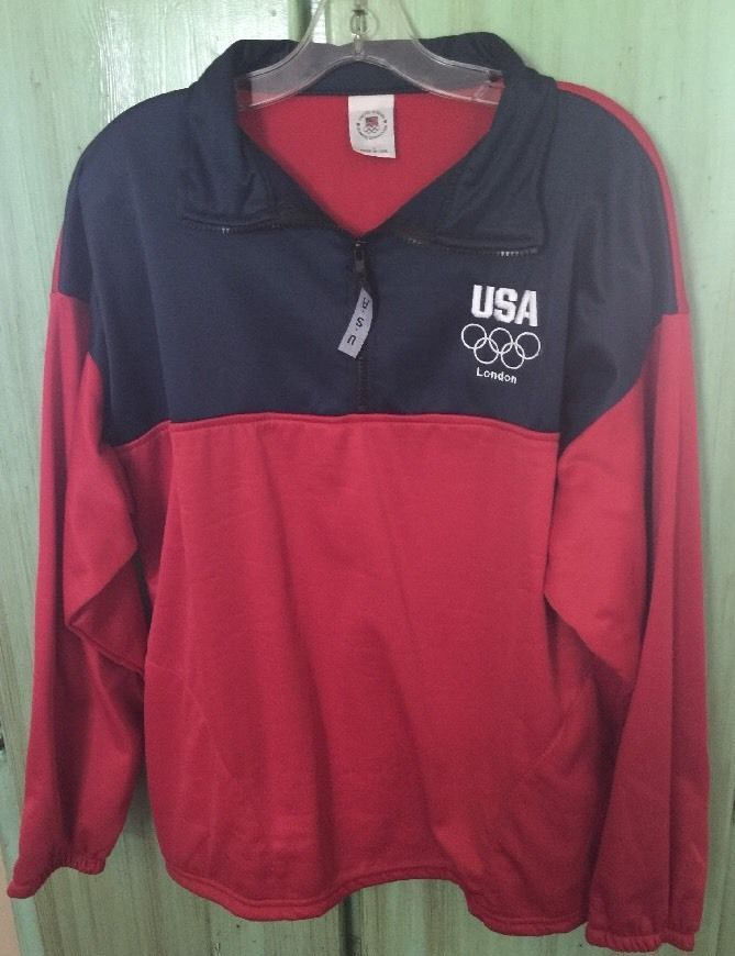 Team USA Olympic Committee London Olympics Pullover Sz L Made in USA | eBay