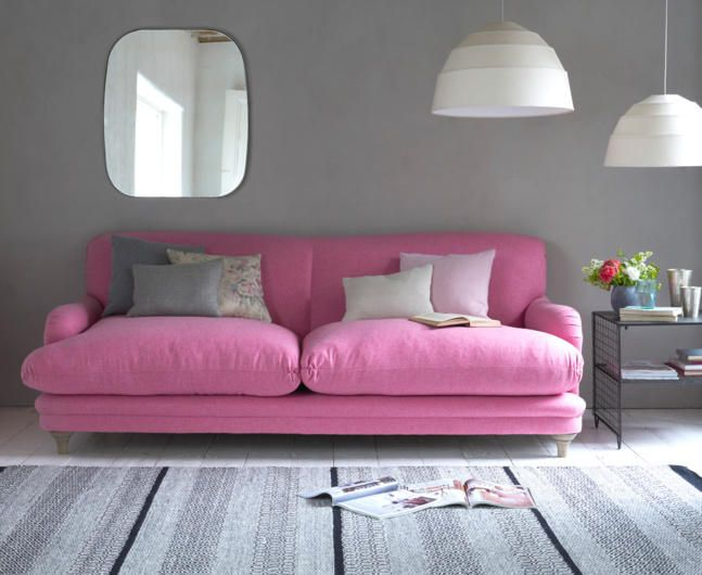 I'm in HEAVAN-Pretty please can I have this sofa from Loaf? It's pink, it's velvet and it's called a 'pudding sofa'.If anybody can tell me where to get this in Melbourne please please tell me quick